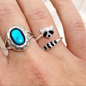 Whimsical & Adjustable Raccoon Ring